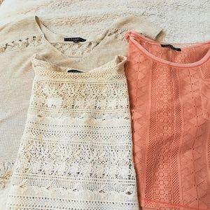 Bundle knitted summer tops